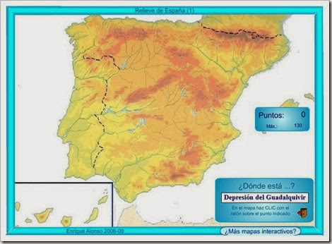 Mapa relieve España.