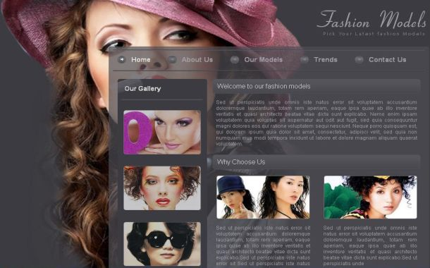 Free Yellow Fashion Shop Website Template
