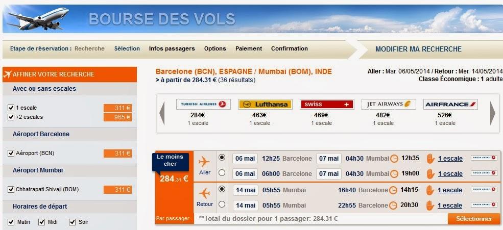 Chollo vuelo Barcelona Bombai