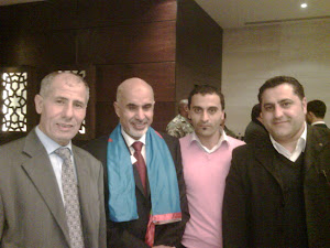 امحمد المقريف مع اعضاء حزب الاستقلال