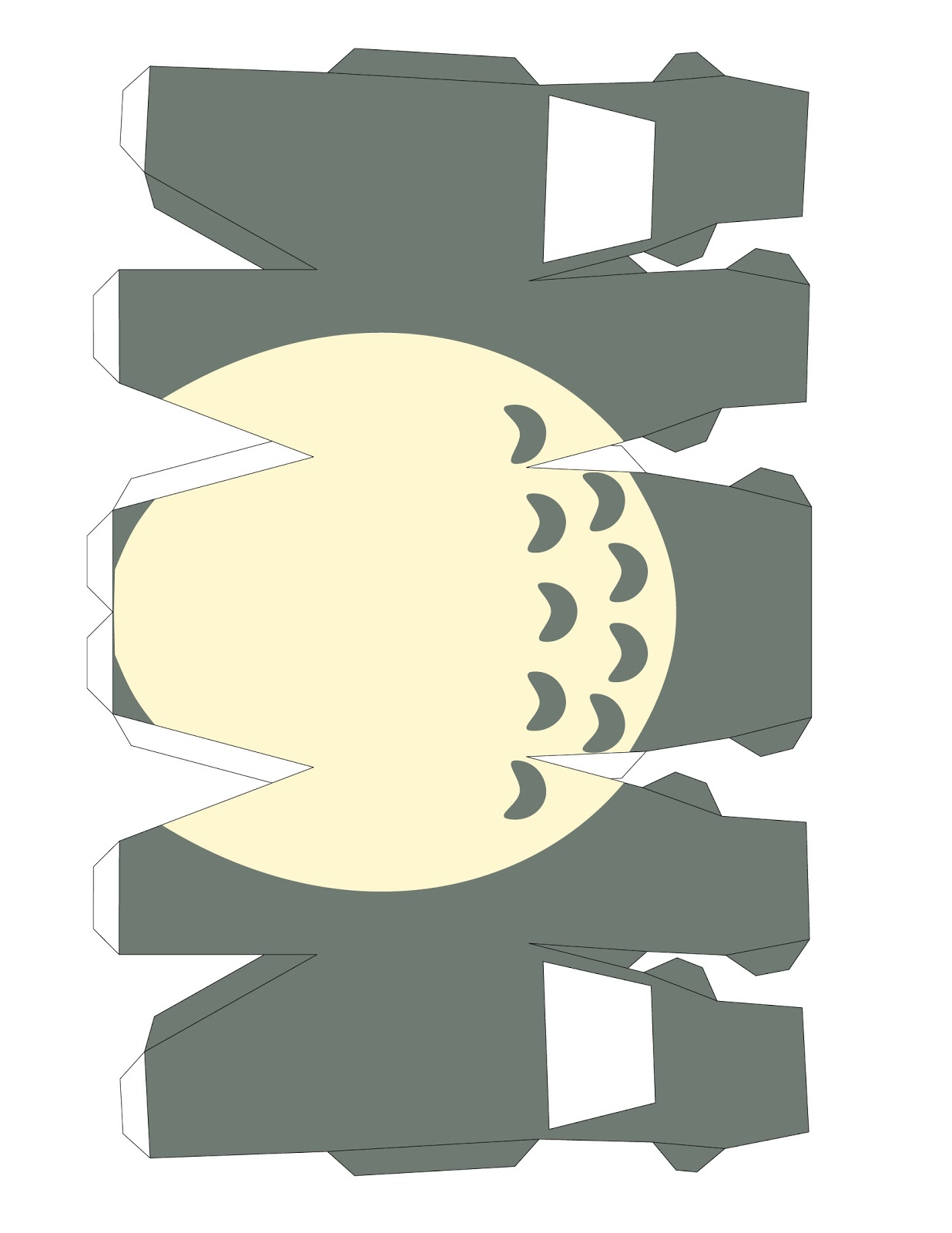 Varietats totoro papercraft template for Cute papercraft templates