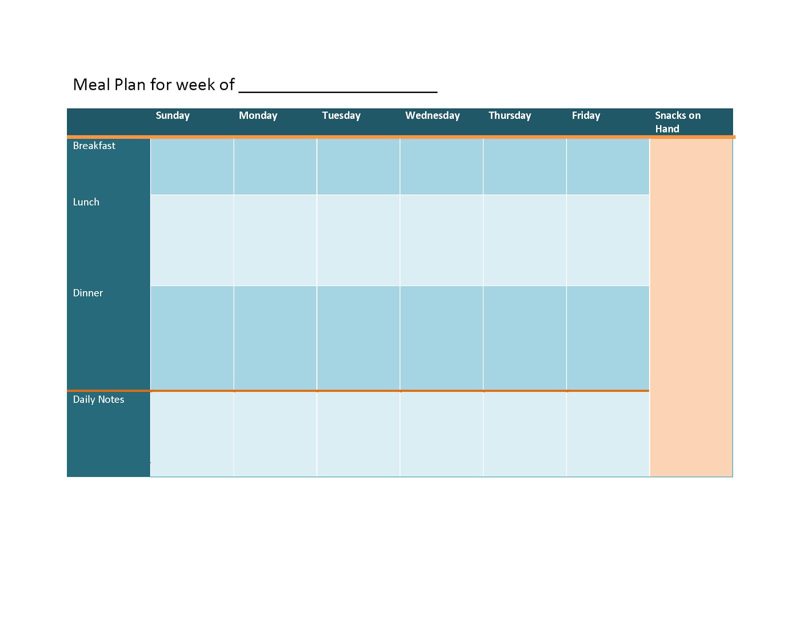 two week meal plan template - 52 weeks of meal planning meal planning 101