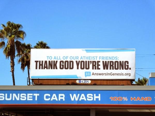 Thank God you're wrong billboard