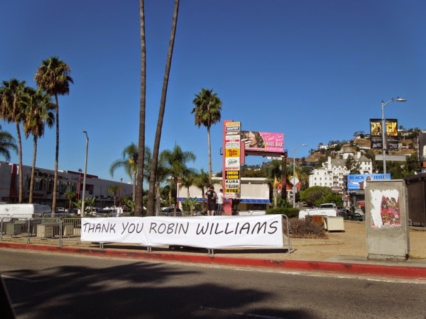 Thank You Robin Williams homage Sunset Strip