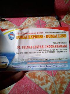 Tiket Penumpang Ferry Dumai Express