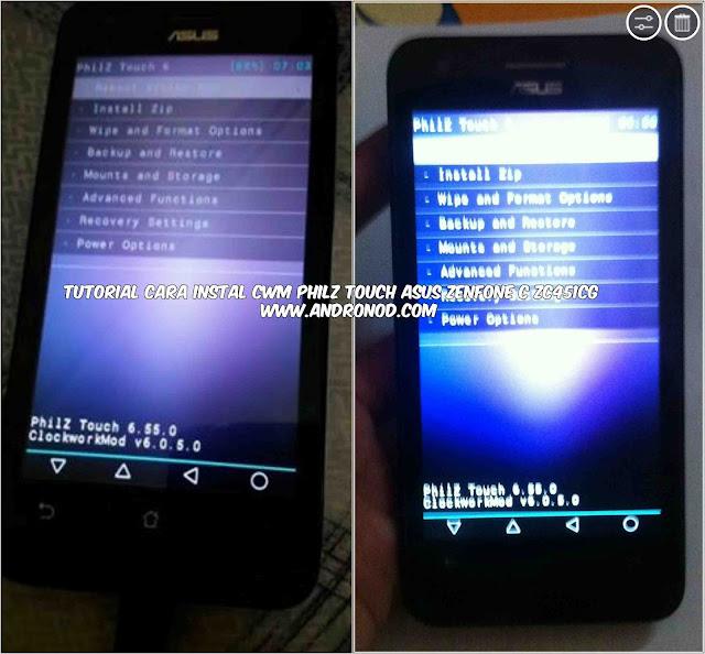 cara Instal Cwm Philz Touch Asus Zenfone C ZC451CG