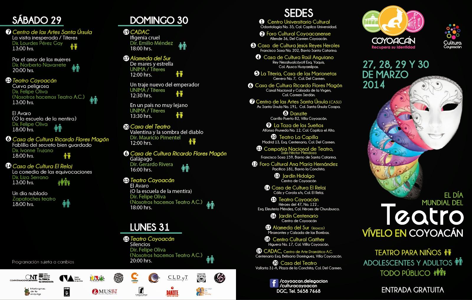 Vive el Día Mundial del Teatro en Coyoacán