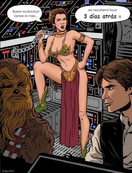 Princesa Leia enojada!