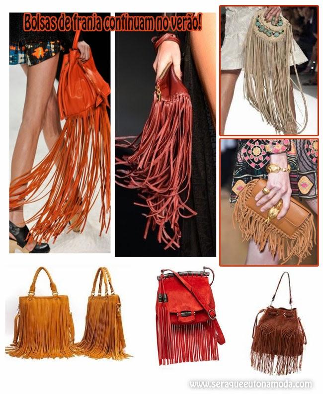 Bolsa de Franja moda do Inverno e verão