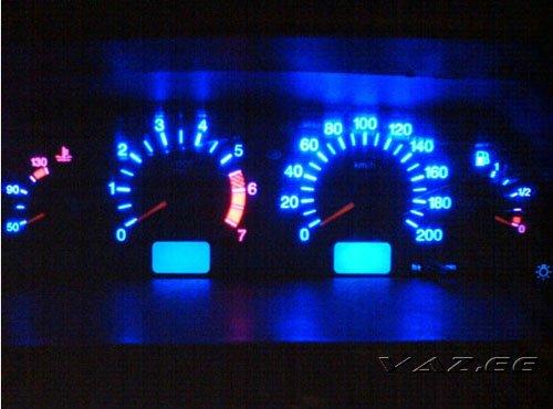 Фото №22 - тюнинг подсветки приборов ВАЗ 2110