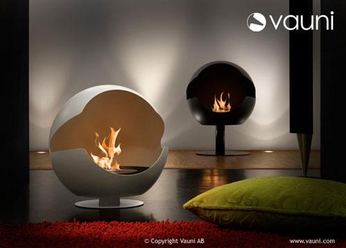 chimeneas modernas para interior y exterior de bioetanol vauni bonitadecoraci. Black Bedroom Furniture Sets. Home Design Ideas