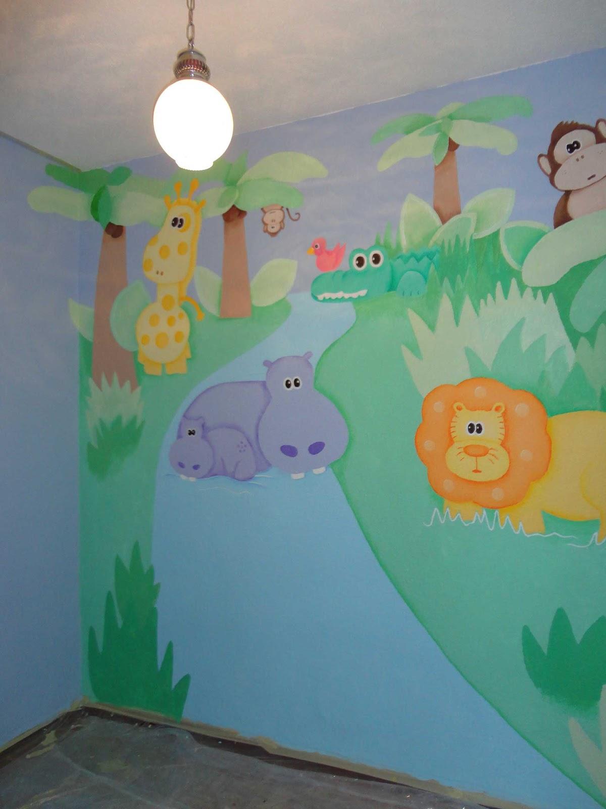 Decopared murales infantiles pintados en paredes for Murales infantiles