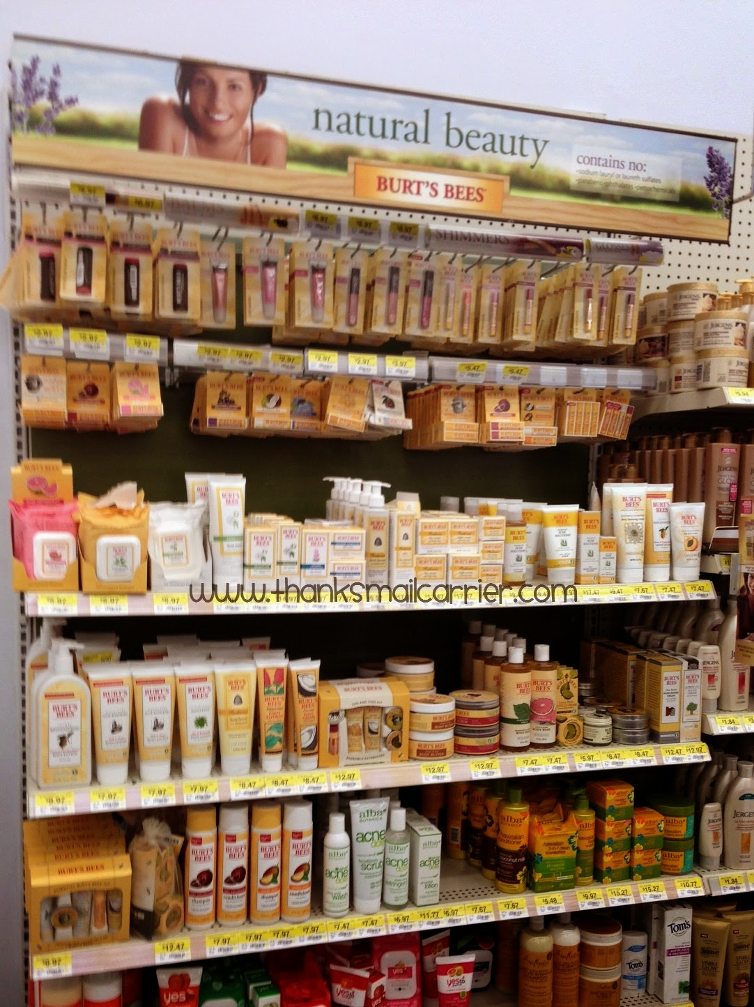 Burt's Bees display