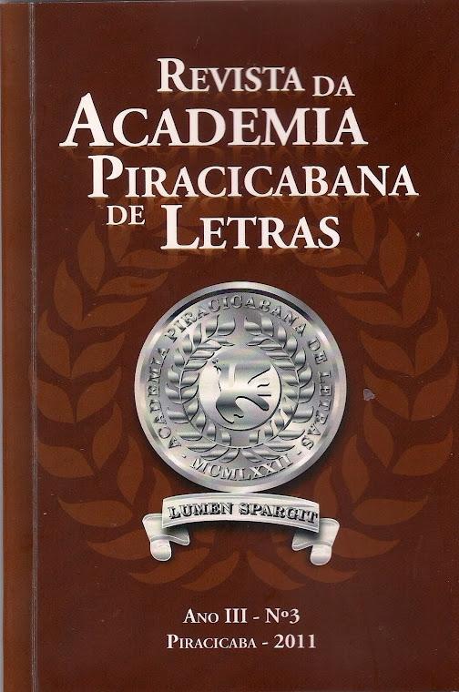 Revista da Academia Piracicabana de Letras - vol 3
