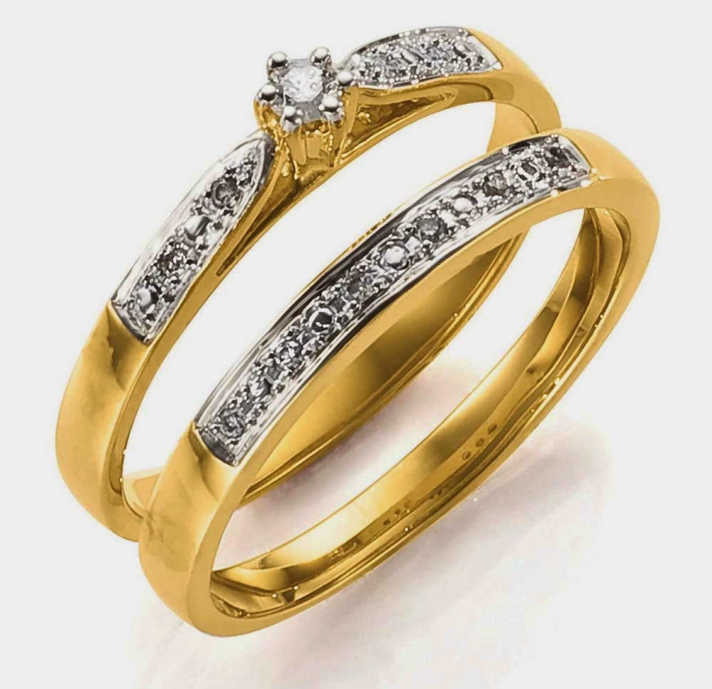 Simple wedding rings sets diamond elegant him and her design for Diamond wedding ring for him