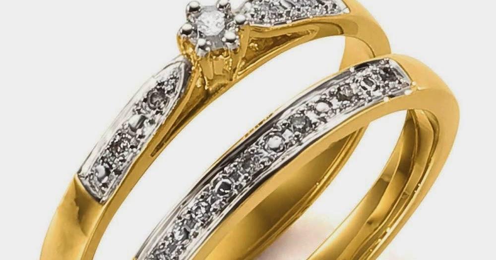 Simple Wedding Rings Sets Diamond Elegant Him And Her Design
