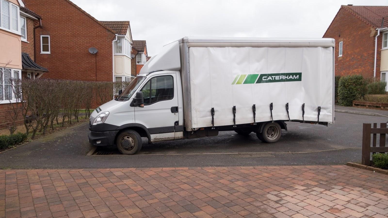 Ian's Caterham delivery van