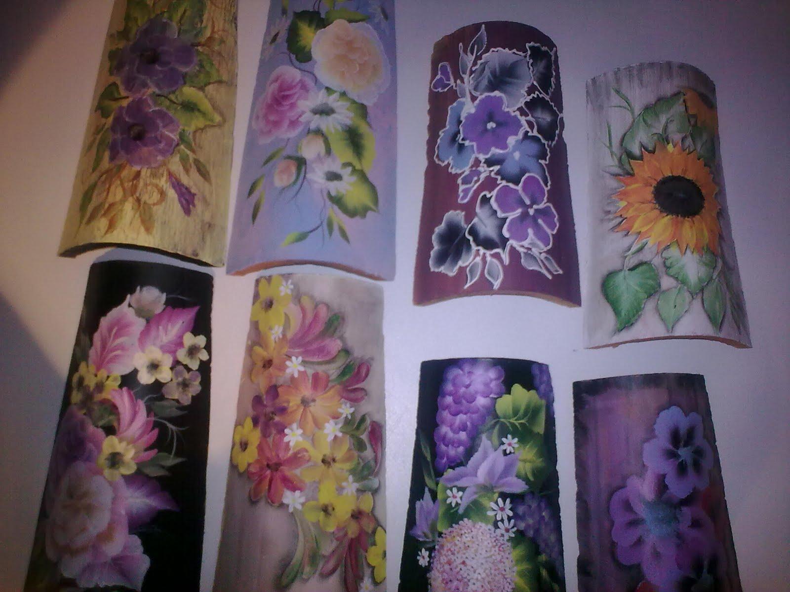 Tejas pintadas a mano - Pintura para tejas ...