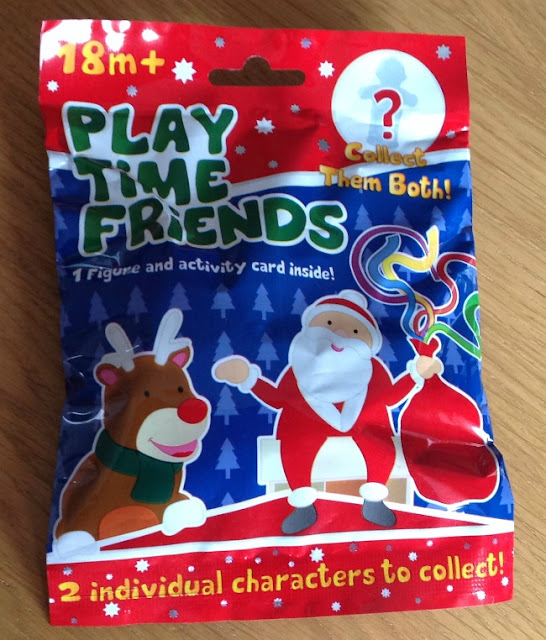 Picture of packet front with Father Christmas and a Reindeer