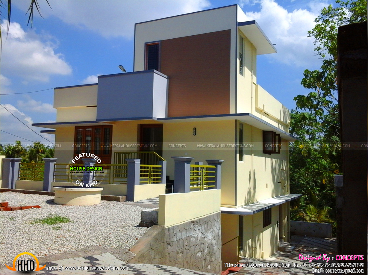 Ground Floor Side Elevation : Work finished house plan and elevation kerala home