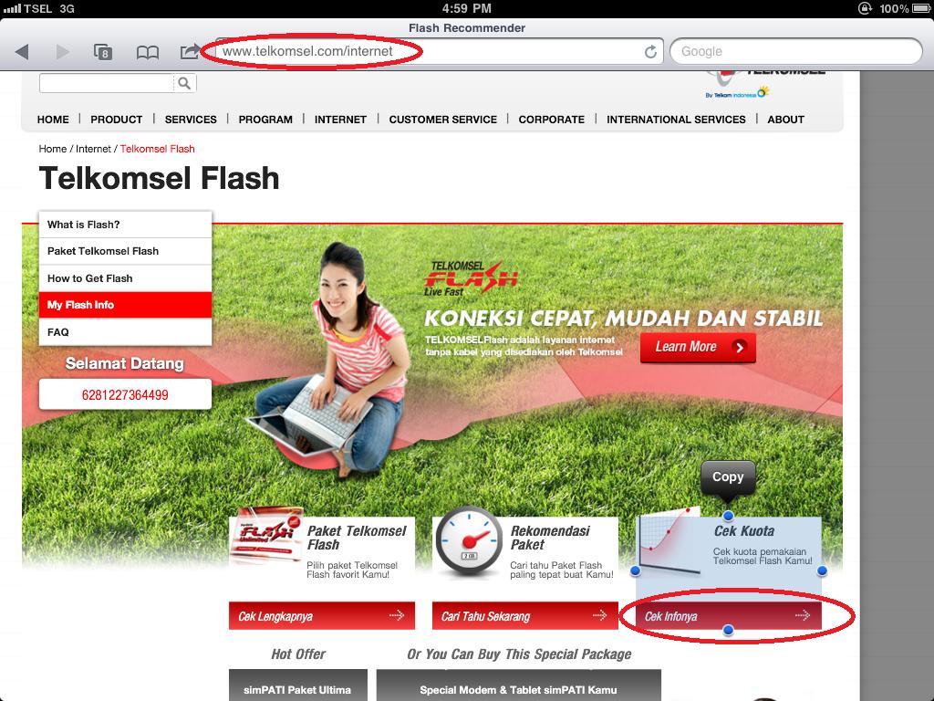 ... Digital Diary.: Aktifasi Paket Telkomsel Flash Pada IPAD Lewat Website