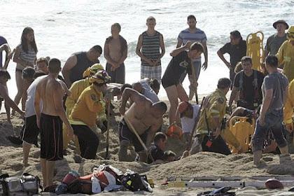 Bermain di Pantai, Pria Ini Menggali Kuburannya Sendiri