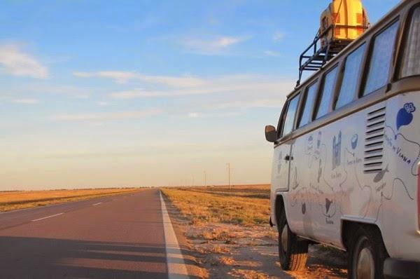 Serão cerca de 4.500km de estrada na viagem de despedida de Walentina (foto: Divulgação)
