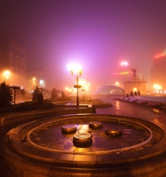 Kiev in de mist