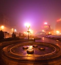 Kiev in de mist