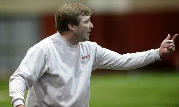 Alabama defensive coordinator Kirby Smart asked about Steve Spurrier's comments about Nick Saban.