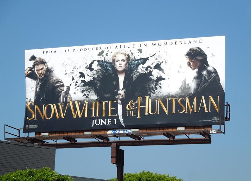 Snow White Huntsman movie billboard