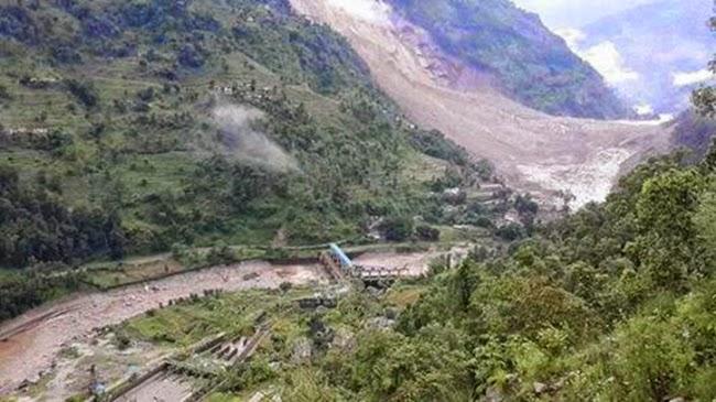 sindhupalchok landslide in nepal