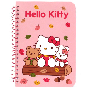 Hello Kitty Autumn Fall leaves notepad