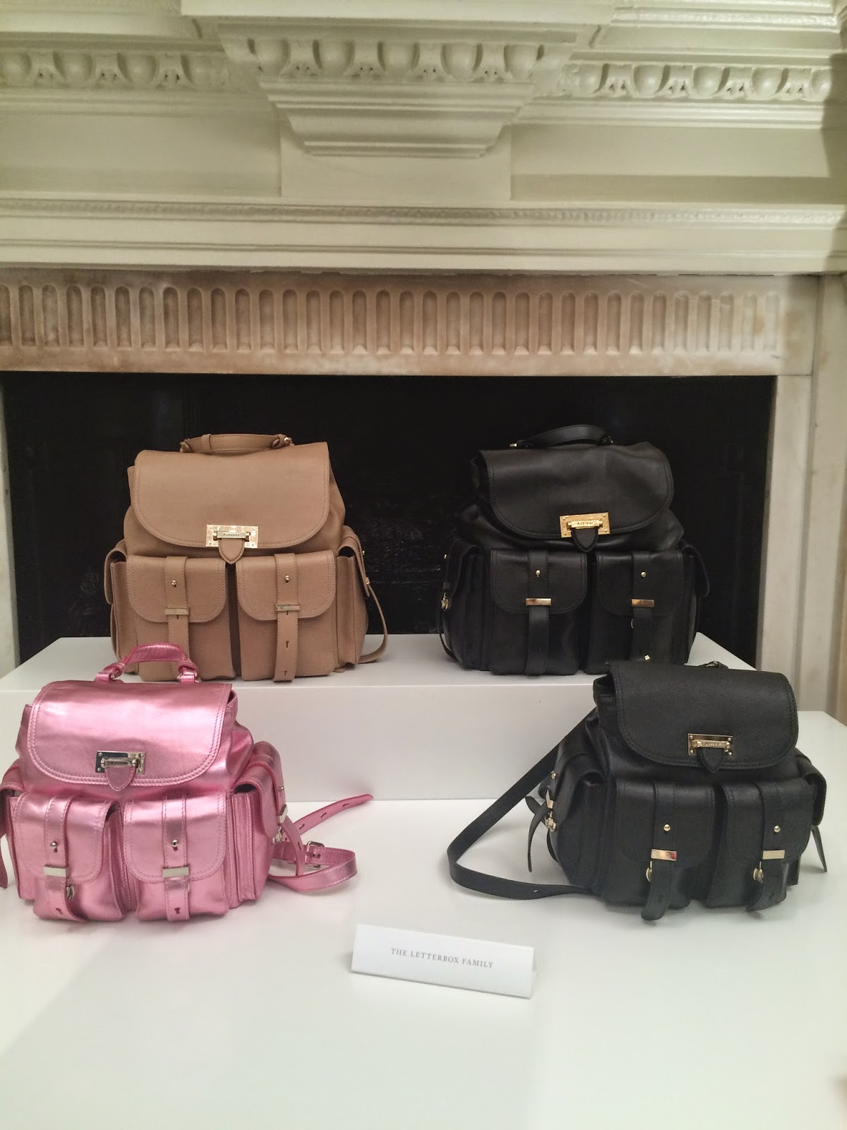 aspinal of london rucksack, aspinal of london backbag, metallic backbag