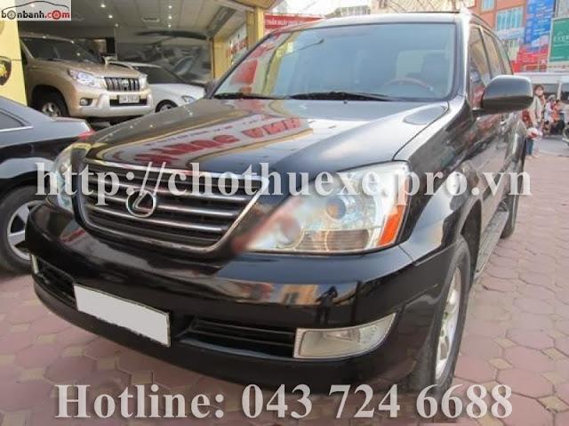 Cho thuê xe 7 chỗ VIP GX470 tại Hà Nội