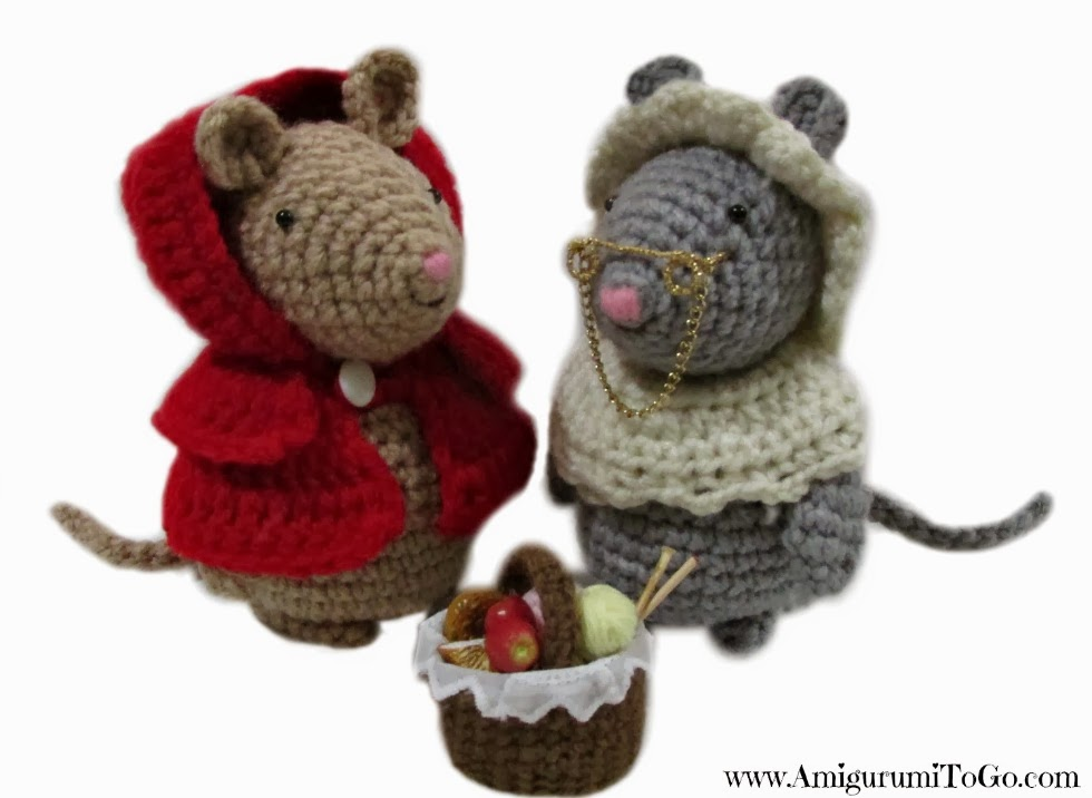 Amigurumi Fairy Tales Free : Little Red Riding Mouse Plus Granny Outfit ~ Amigurumi To Go