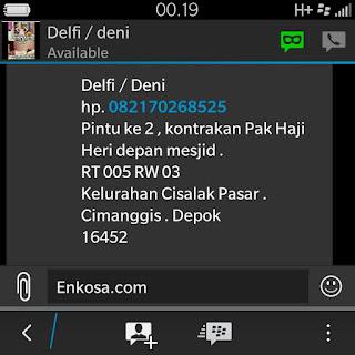 Konfirmasi alamar lengkap Delfi/ Deni di enkosa sport