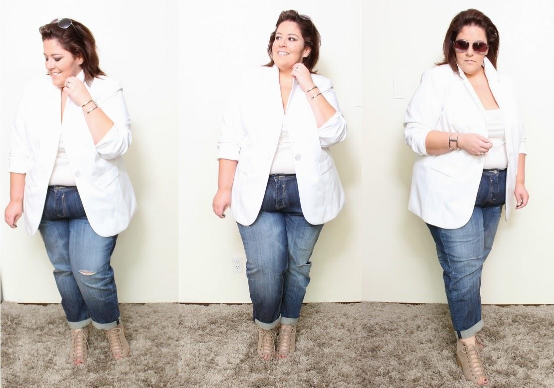 26aea267ae3 The ultimate white plus size boyfriend blazer look - Life and Style of  Jessica Kane