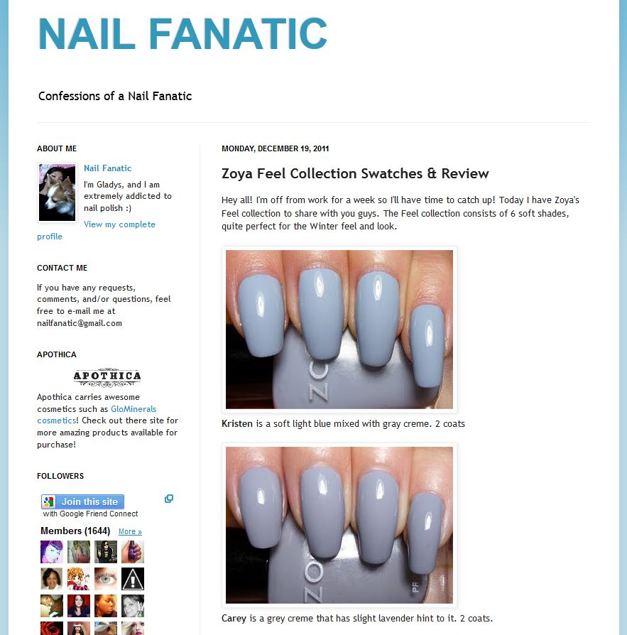on nails spot: Sexy, High Fashion Winter Nail Color from Zoya!