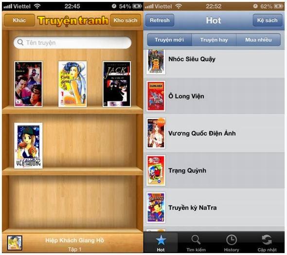 Tổng hợp ứng dụng đọc truyện hay cho iOS