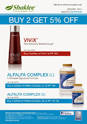Promo Vivix & Alfalfa 5% Disc