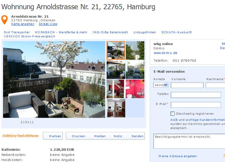 Mietwohnung Hamburg