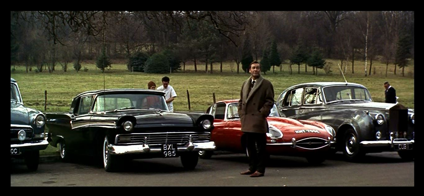 Thunderball parking lot Cubby Broccoli 1962 Rolls-Royce Silver Cloud II