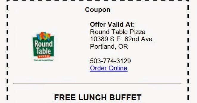 PDX Deals Guy PDXonly Maybe West Coast Deal BOGO Round Table - Round table pizza lunch buffet coupon