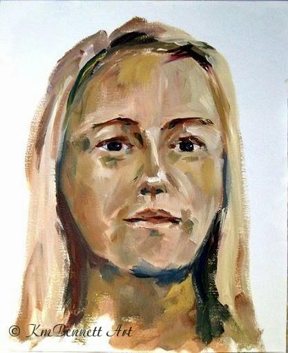 Self Portrait painting KmBennettArt