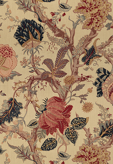 Tea stained floral fabrics