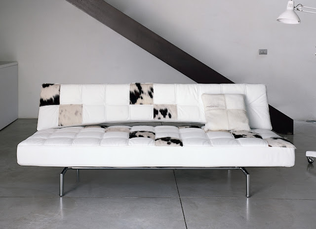 white leather sofa beds