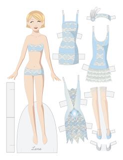 flapper paper doll Lana