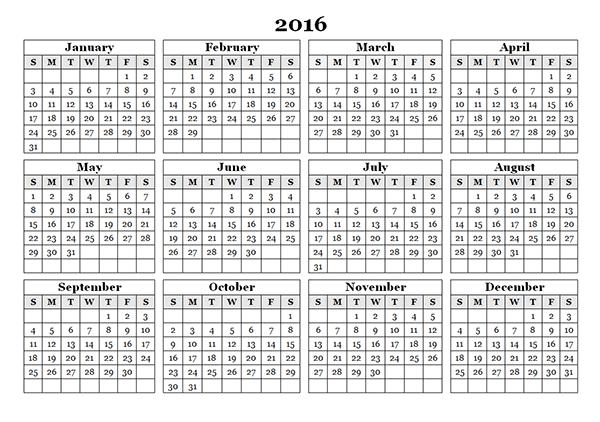 ... Free, 2016 Cute Calendar Template, 2016 Calendar with Holidays