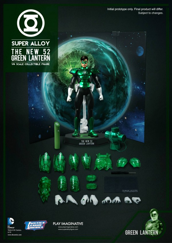 DC & Marvel Action Figures PLAY_IMAGINATIVE_SUPER_ALLOY_1-6_SCALE_DC_COMICS_NEW_52_GREEN_LANTERN_07